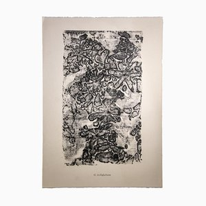 Lithographie, Jean Dubuffet, Lit d'épluchures, 1959
