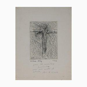 Antoine Revoy, Christ on the Cross, Etching, 1983