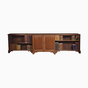 Large Oak Dwarf Bookcase
