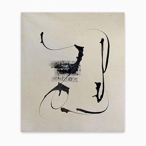 Winterbäume, Abstrakte Malerei, 2019, Baum
