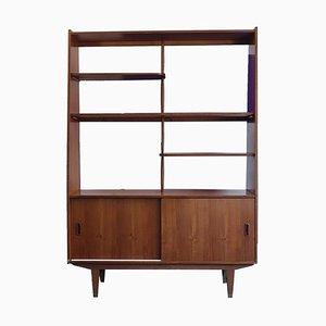 Libreria / divisorio in teak, anni '60