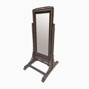 Espejo francés antiguo de cuerpo entero