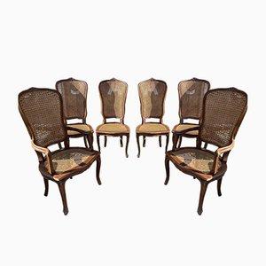 Antiker französischer Stuhl aus Schilfrohr