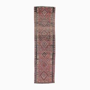 Turkish Vintage Handmade Wool Runner Rug