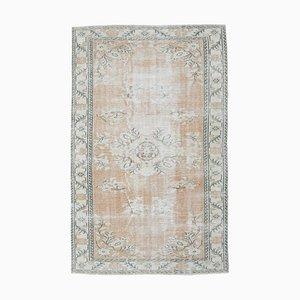 Türkischer Vintage Oushak Handgeknüpfter Teppich mit Wollbezug