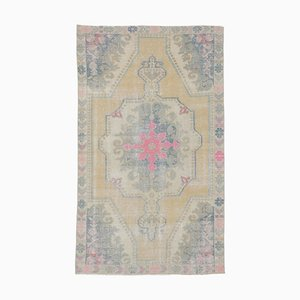 Middle Eastern Oushak Handmade Wool Carpet Rug