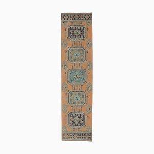 Orientalischer Vintage Oushak Handgewebter Läufer aus Wolle