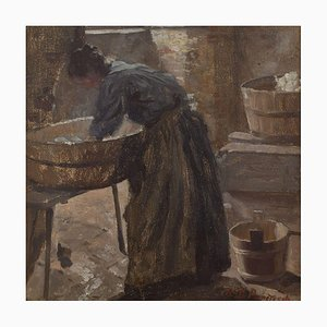 Robert Panitzsch, The Laundry Room de Rooms, óleo sobre lienzo