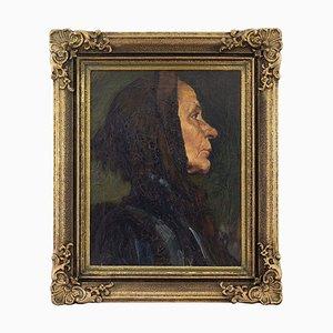 Early 20th-Century German School, Portrait of an Older Woman by Rain