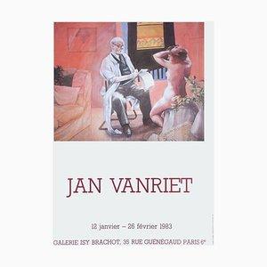 Póster de Expo 83 Galerie Isy Brachot de Jan Vanriet