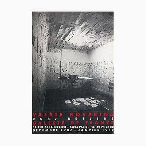 Póster de Expo 87 Galerie De France de Valere Novarina