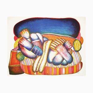 Femme sur Canapé par Abraham Hadad