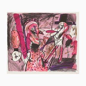 Visage Rouge par Jacques Flechemuller