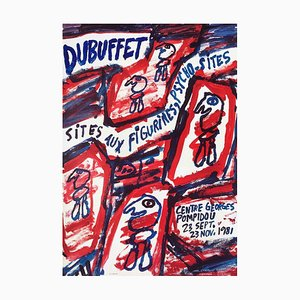 Expo 81 Georges Pompidou Center by Jean Dubuffet