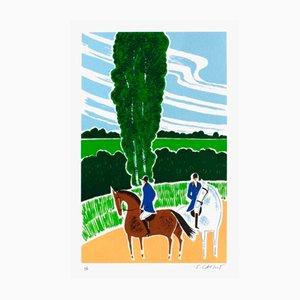 Horses and Riders 19 von Serge Lassus