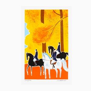 Horses and Riders 17 von Serge Lassus