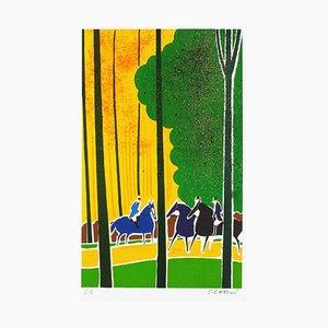 Horses and Riders 16 von Serge Lassus