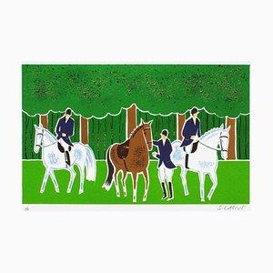 Horses and Riders 15 von Serge Lassus