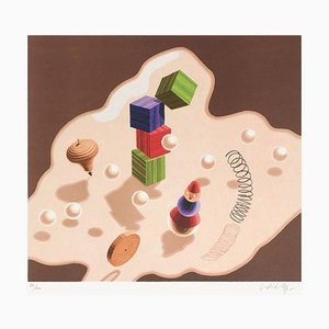 Origen del álbum, Study of Movement, Toys, Victor Vasarely