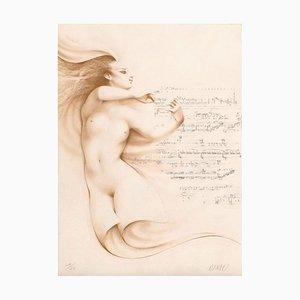 Muse I Ocre par Gérard Daran