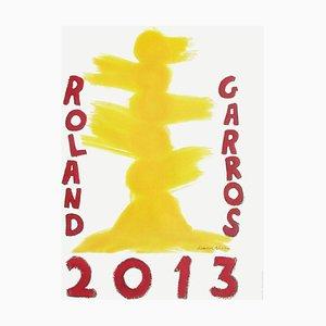 Póster 2013 de David Nash de Roland-Garros
