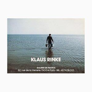 Póster de la Expo 93 Galerie De France de Klaus Rinke
