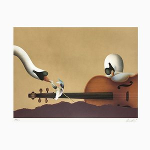 Les cygnes et le violon von Jean Paul Donadini