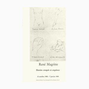 Expo 88 - Dessins croquis et esquesses von René Magritte