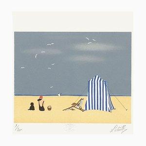 Un après-midi à la plage par Francis Latreille