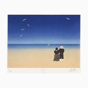 Couple sur la plage par Francis Latreille
