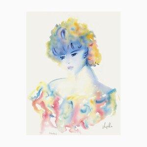 Jeune Fille de Profil II par Cecile Chapellier