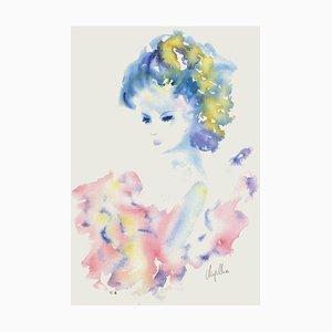 Jeune fille de profil I by Cecile Chapellier
