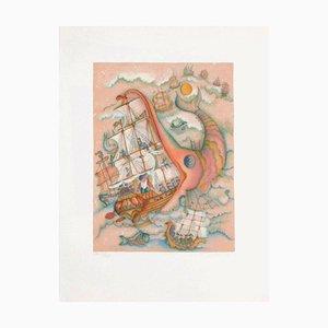 Baron Munchhausen - The Boat by Françoise Deberdt