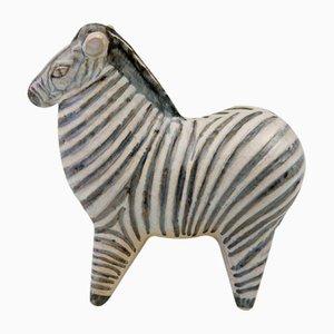 Stora Zoo Zebra Skulptur von Lisa Larson für Gustavsberg, 1957