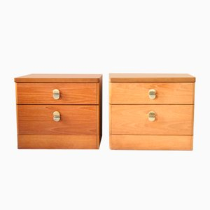 Mid-Century Teak Nightstands from Stag, Set of 2