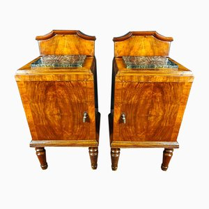 Art Nouveau Nightstands, 1800s, Set of 2