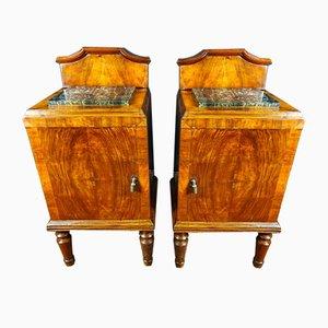 Tables de Chevet Art Nouveau, 1800s, Set de 2