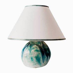 Lampada da tavolo in ceramica fatta a mano, anni '70