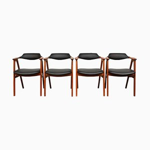 Vintage Danish Teak Armchairs by Erik Kirkegaard for Høng Stolefabrik, Set of 4
