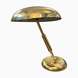 Italienische Mid-Century Angelo Lelli Style Tischlampe aus massivem Messing