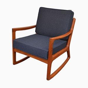 Rocking Chair Vintage en Teck par Ole Wanscher pour France & Søn / France & Daverkosen, Danemark