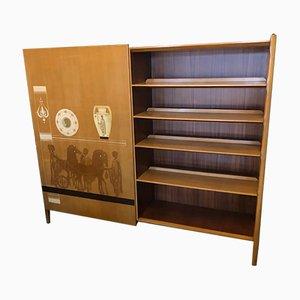 Librería y armario Mid-Century Modern de Vittorio Dassi, años 60