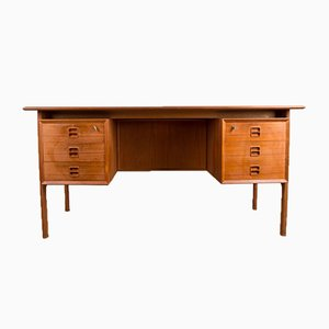 Danish Double Sided Teak Desk Arne Vodder for Sibast, 1960s