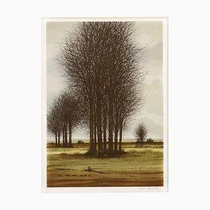 Französische Mid-Century Lithographie, 1970er
