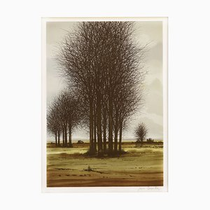 Mid-Century French Lithograph, 1970s