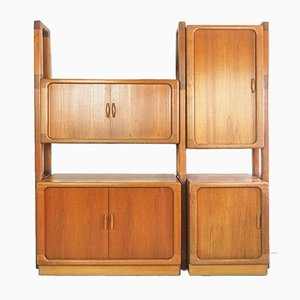 Danish Teak Modular Wall Unit from Dyrlund, 1960s, Set of 7