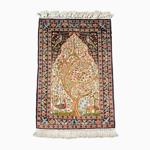 Small Vintage Caucasian Woven Tree of Life Rug