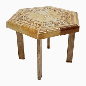 French Ceramic Coffee Table by Roger Capron for Vallauris