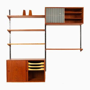 Estantería modular danesa de teca de Kai Kristiansen para FM, años 60