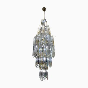 Lámpara de araña vintage de cristal de Murano de Paolo Venini para Venini